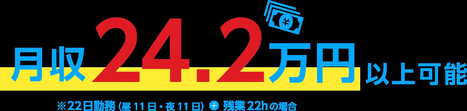 月収24.2万円可能